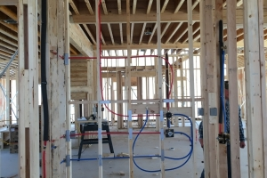 Plumbing installation for new construction in La Vernia, TX